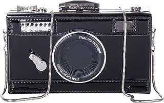 Women's PU Camera Shaped Snapshot Casual Cross body Shoulder Handbag Purse