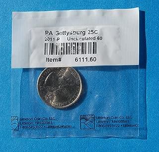 2011 P United States of America ¼ Dollar ''Washington Quarter'' Gettysburg National - Pennsylvania Coin Uncirculated