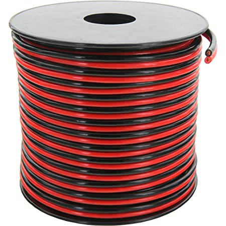 GS Power14Gauge Wire (14AWG) - 100 Foot, Pure Copper, Stranded Electrical Wiring for Speaker, Automotive, Trailer, Stereo and Home Theater Applications - Red/Black