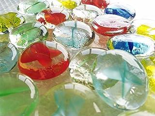 ガラスのおはじき 花ケリ 約2.5cm/25個入り 日本製 Glass Counter