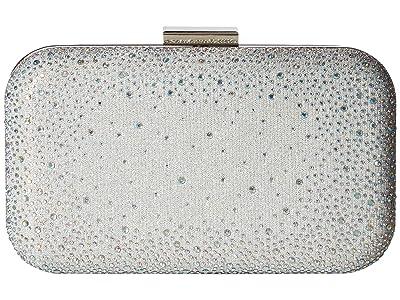 Jessica McClintock Molly Minaudiere (Silver) Handbags