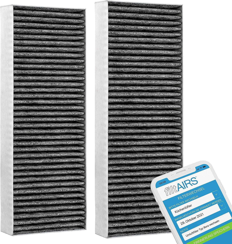 Filtro alternativo para Bora Basic de carbón activo (2 filtros) BAKFS para BHU / BIU / BFIU (2)