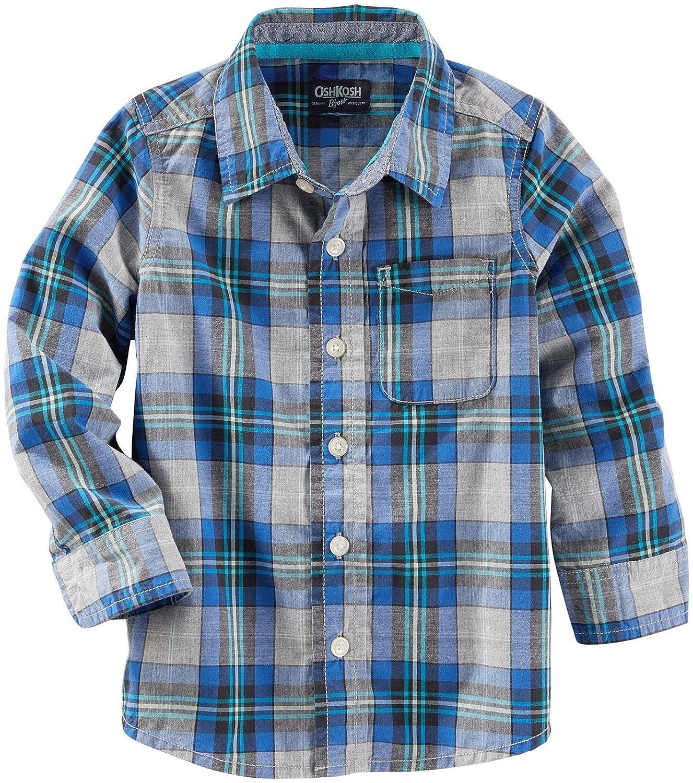 OshKosh B ' goshチェックボタンダウンシャツ(幼児/子供)