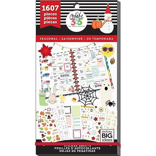 Me & My Big Ideas Seasonal, 1607/Pkg Happy Planner Sticker Value Pack