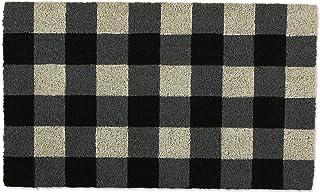 DII Black & White Buffalo Check Doormat