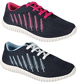 Shoefly Women Multicolour Latest Collection Sports Running Shoes-Pack of 2 (Combo-(2)-5027-5026)