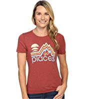 Life is Good - Go Places Mountains Cool Tee