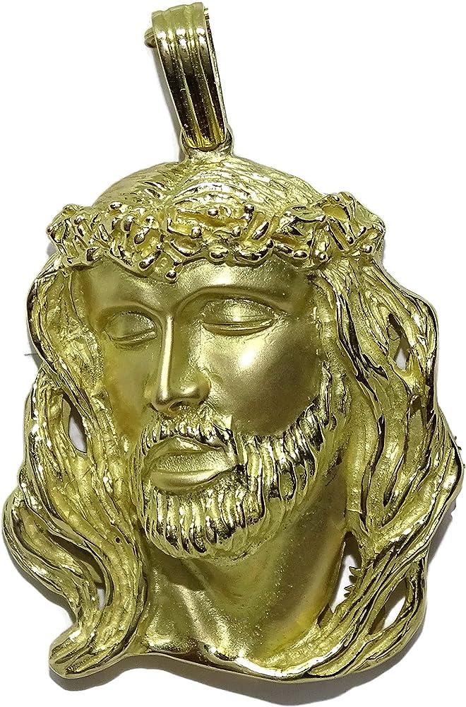 Never say never faccia di cristo in oro giallo 18 k, 22,85 g 99004014