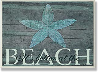 Stupell Industries It's Better at The Beach Starfish Wall Plaque, 13 x 19, Multi-Color