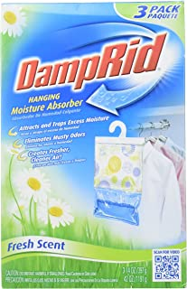 DAMPRID 773822075241 FG83K Hanging Moisture Absorber Fresh Scent (3 Boxes of 3 Bag, Blue