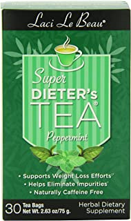 Laci Le Beau Super Dieter's Tea, Peppermint, 30 Count Box (Pack of 4)