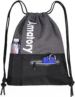 Drawstring Backpack String Bag Gym Sack Sackpack Gymsack Draw Swimming Swim Athletic Sports Snorkel Gymnastics Wrestling M...