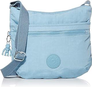 Kipling womens Arto Crossbody Bag, Blue Mist, 11.25 L X 10.25 H X 1.5 D US