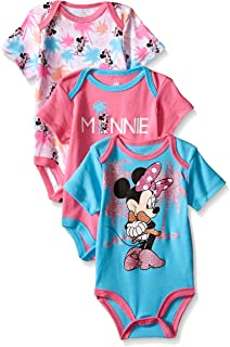 Disney Baby Girls' Minnie Mouse 3 Pack Bodysuits