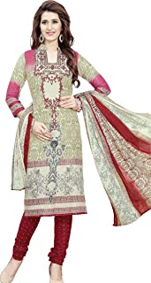 Minu salwar Cotton Printed Suit sets Multi(Joy_3002)