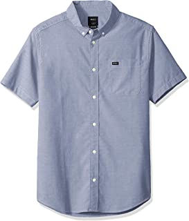 RVCA Men's Thatll Do Stretch Short Sleeve Woven Button Up...