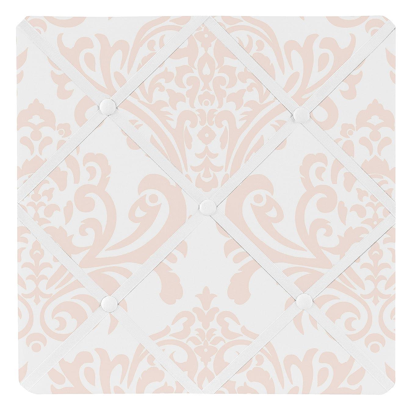 Sweet Jojo Designs Blush Pink Damask Fabric Memory/Memo Photo Bulletin Board for Amelia Collection