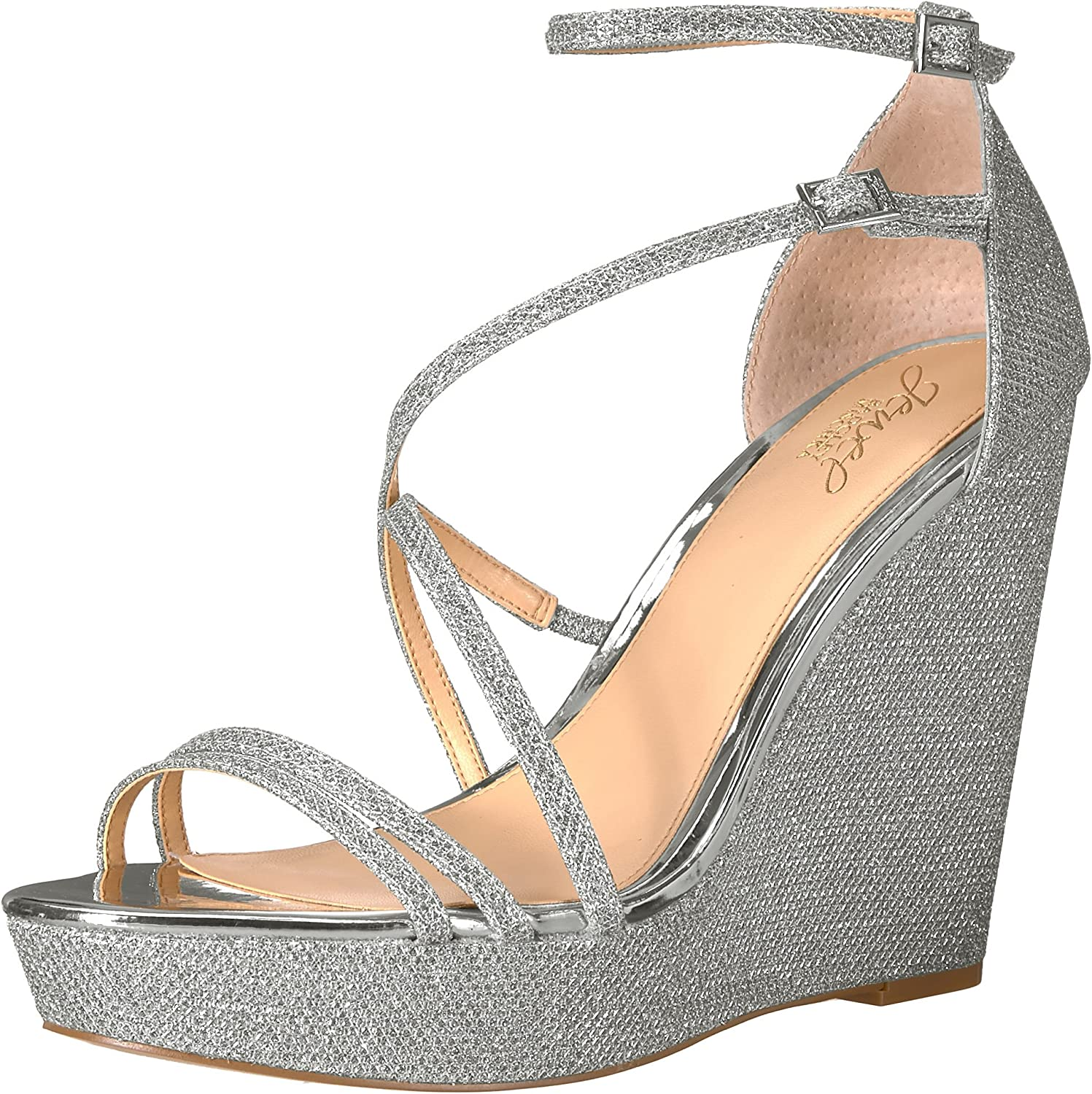 Badgley Mischka Mischka Jewel Woherren Tatsu Wedge Sandal, Silber, 8 Medium US  offizielle Website