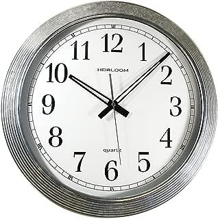 Artistic 401ZWA Wall Clock, Galvanized Metal, 16-Inch, White Dial/Silver