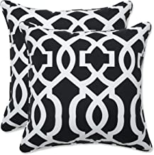 Pillow Perfect Outdoor | Indoor New Geo Black/White 16.5 Inch Throw Pillow, 16.5 X 16.5 X 5