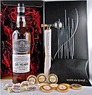 Geschenk Glengoyne 10 Jahre Single Malt Whisky  1 Glaskugelportionierer  Edelschokolade  Fudge