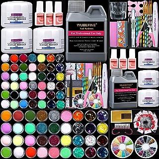 Sponsored Ad - WuBeFine 42 in 1 Acrylic Nail Kit,Nail Acrylic Powder and Liquid Set,Brush Glitter File French Tips Nail Ar...