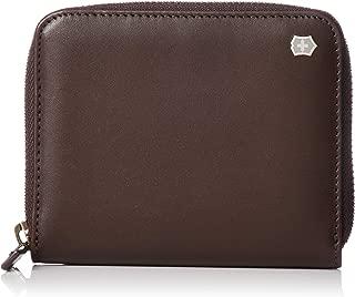 Victorinox Unisex Altius Edge Weyl Zippered Clutch Wallet w/RFID Protection Dark Earth Leather One Size