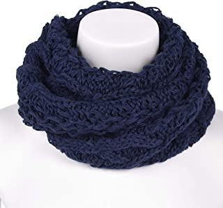 AMSTAR Womens Soft Warm Thick Ribbed Knit Winter Infinity Circle Loop Scarf