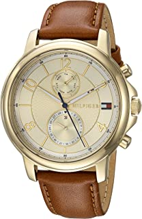 Tommy Hilfiger Women's Sophisticated Sport Quartz Watch with Leather Strap, Brown, 18 (Model: 1781818