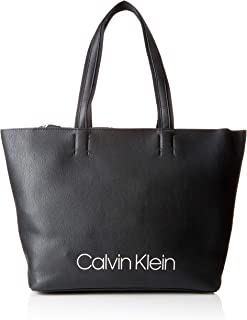 b80f76ddc6 Calvin Klein Collegic Shopper Bag for Women - Mixed, Black (K60K604457)