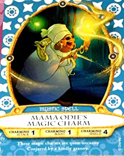 Disney Sorcerers Mask of the Magic Kingdom Sotmk Game Wdw Walt Disney World Exclusive Game Lightening Card # 66 Mama Odie's Magic Charm Rare Mystic Spell Map & Mickey Stickers