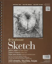 Strathmore SM455-3 455-3 Drawing & Sketch Paper, 6 Pack, White