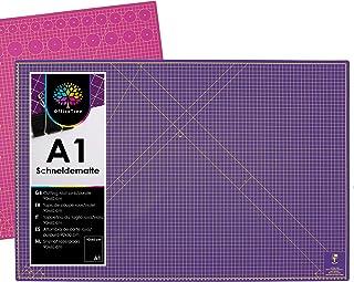 OfficeTree Tapis de Decoupe A1 - Tapis de Coupe Auto-cicatrisant 90 x 60 cm - Tapis de Decoupe Couture Pour Coupe Professi...