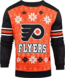 Forever Collectibles NHL Men's Printed Ugly Sweater, Multiple Teams