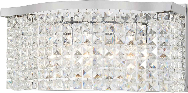 Minka Lavery 日時指定 Crystal Wall Light Fixtures Concentus Bath 在庫処分 4803-77