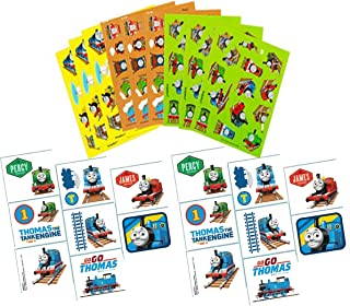 Thomas the Tank Engine & Friends Kids Party Favors! Temporary Thomas the Train Tattoos & Thomas the Tank Engine Stickers (9 Sheets)