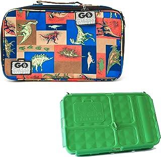 [ゴーグリーン]Go Green Lunch Box Set ? 5 Compartment LeakProof Lunch Box ? Insulated Carrying Bag ? Beverage Bottle ? [並行輸入品]