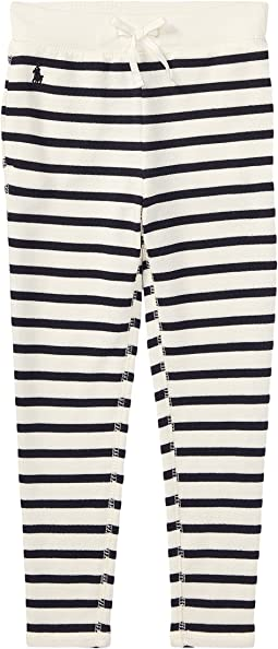 Polo Ralph Lauren Kids - Striped French Terry Leggings (Little Kids)