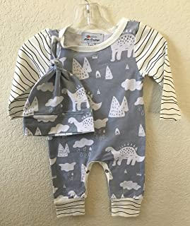 Infant romper with hat