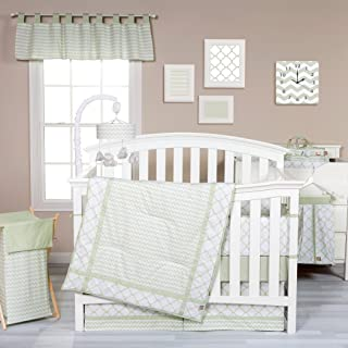 Trend Lab Sea Foam 3 Piece Crib Bedding Set, Sage