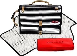 Skip Hop Baby Pronto Signature Portable Changing Mat Station, Black Stripe