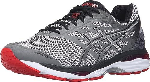 ASICS Men's Gel-Cumulus 18 Running zapatos, Carbon plata Vermilion, 9.5 M US