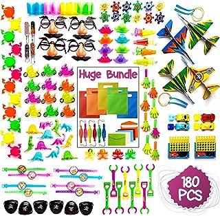 Imagine's 180PCS Carnival Prizes & Party Bags BUNDLE: Party Favors Assortment Plus Punch Balloons