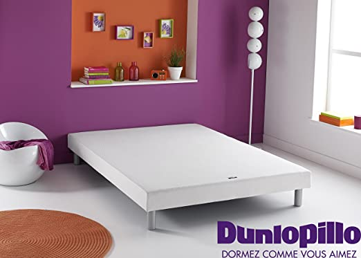 Dunlopillo somier Dunlosom + Patas cilíndrica Coloris Aluminio ...