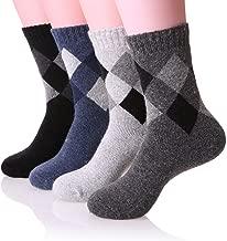 Mens Wool Socks Fuzzy Thermal Heavy Thick Warm Comfort Cotton Work Duty Winter Socks 4 Pack