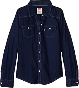 The Western Long Sleeve Denim Top (Little Kids)