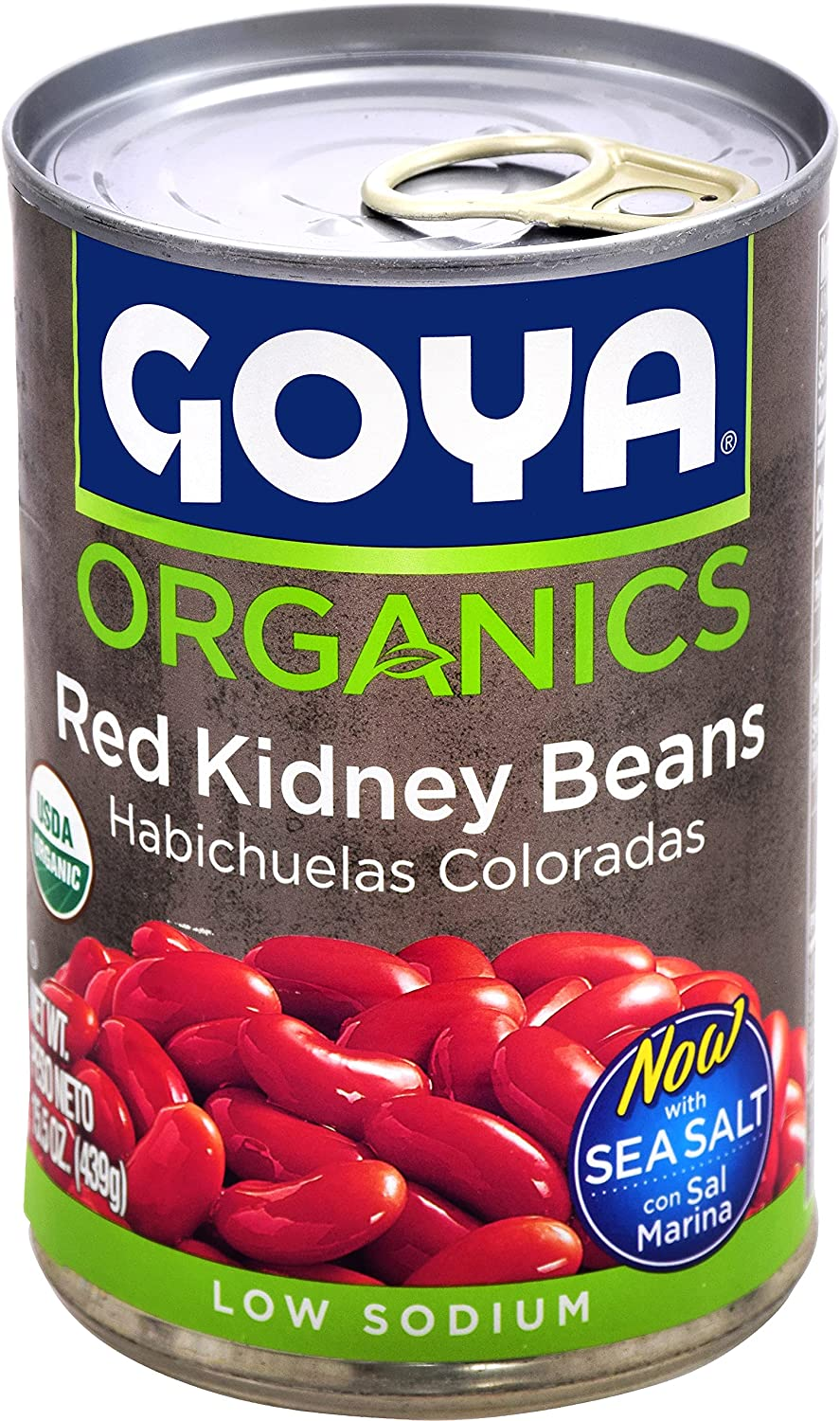 Goya Gorgeous Foods Organic Max 46% OFF Red Kidney Beans of 24 Ounce 15.5 Pack
