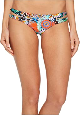 Luli Fama Viva Cuba Reversible Zigzag Open Side Moderate Bikini Bottom