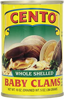 Cento Whole Baby Clams, 10-Ounce Cans (Pack of 12)