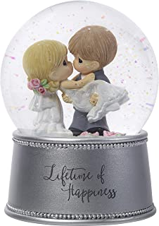Precious Moments Lifetime Of Happiness Bride & Groom Musical Resin/Glass Snow Globe 182101